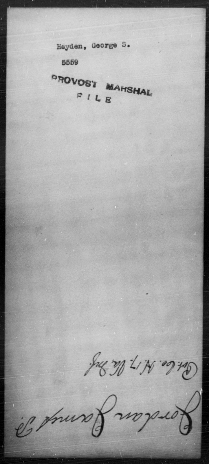Heyden, George S - State: [Blank] - Year: [Blank]