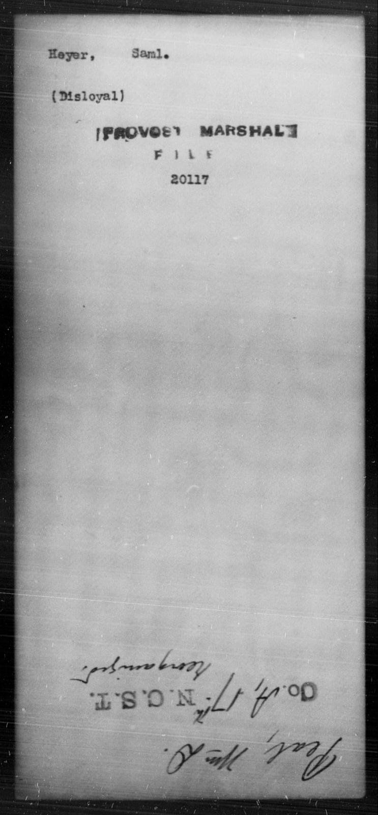 Heyer, Saml - State: [Blank] - Year: [Blank]