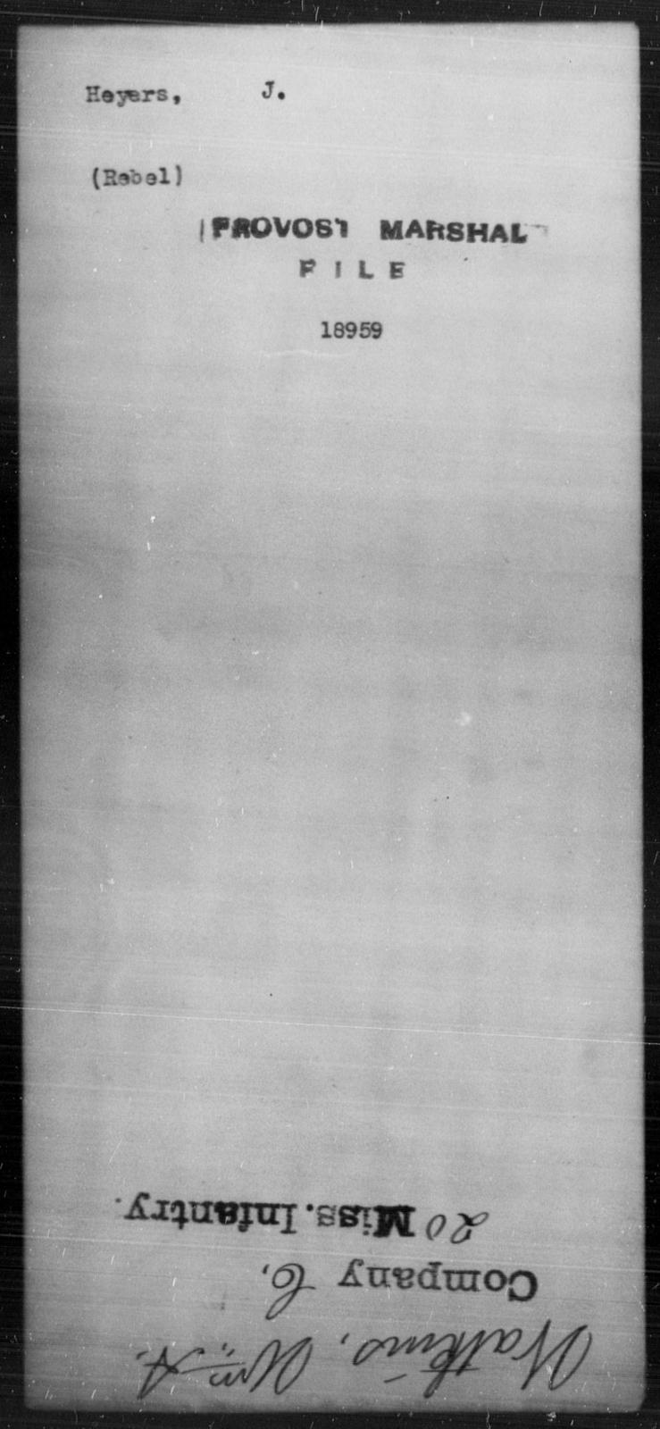 Heyers, J - State: [Blank] - Year: [Blank]