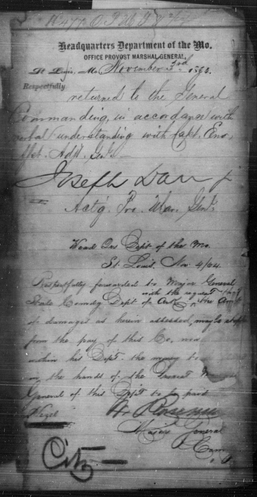 Hezel, [Blank] - State: Missouri - Year: 1864