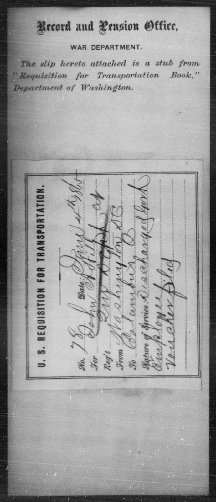 Hill, John A - State: District of Columbia - Year: 1865