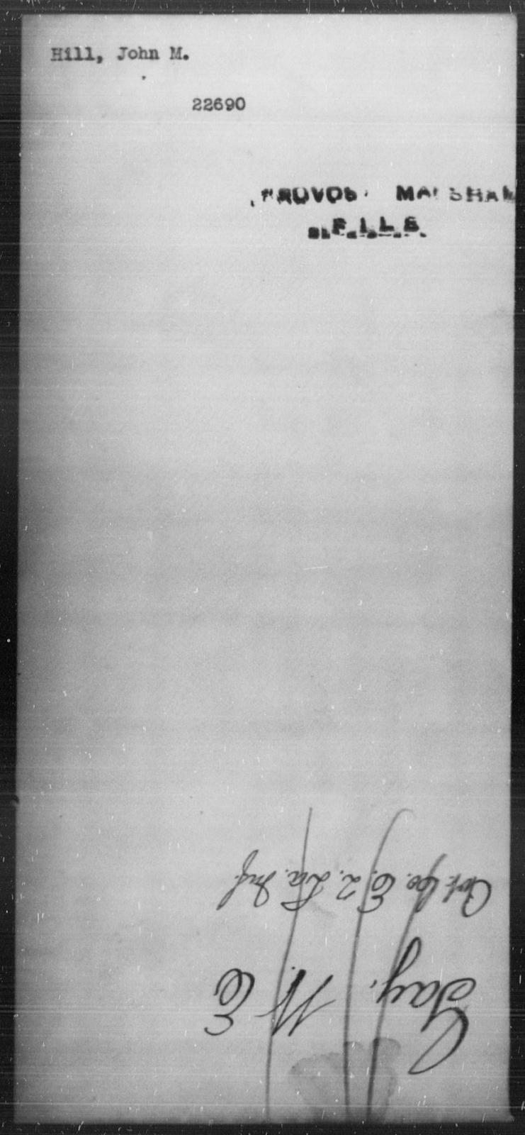 Hill, John M - State: [Blank] - Year: [Blank]