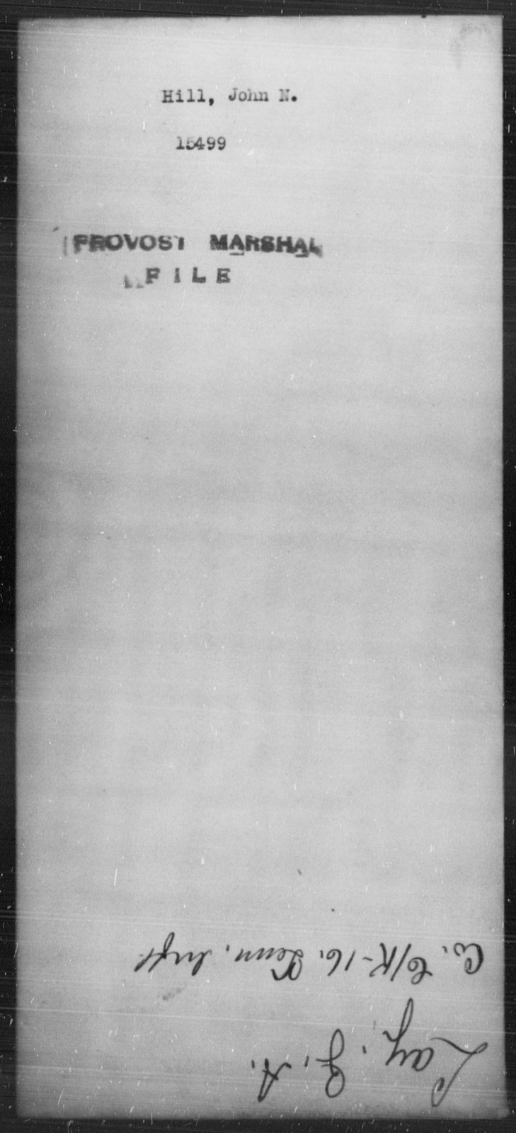 Hill, John N - State: [Blank] - Year: [Blank]