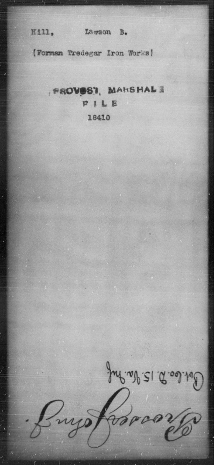 Hill, Lawson B - State: [Blank] - Year: [Blank]