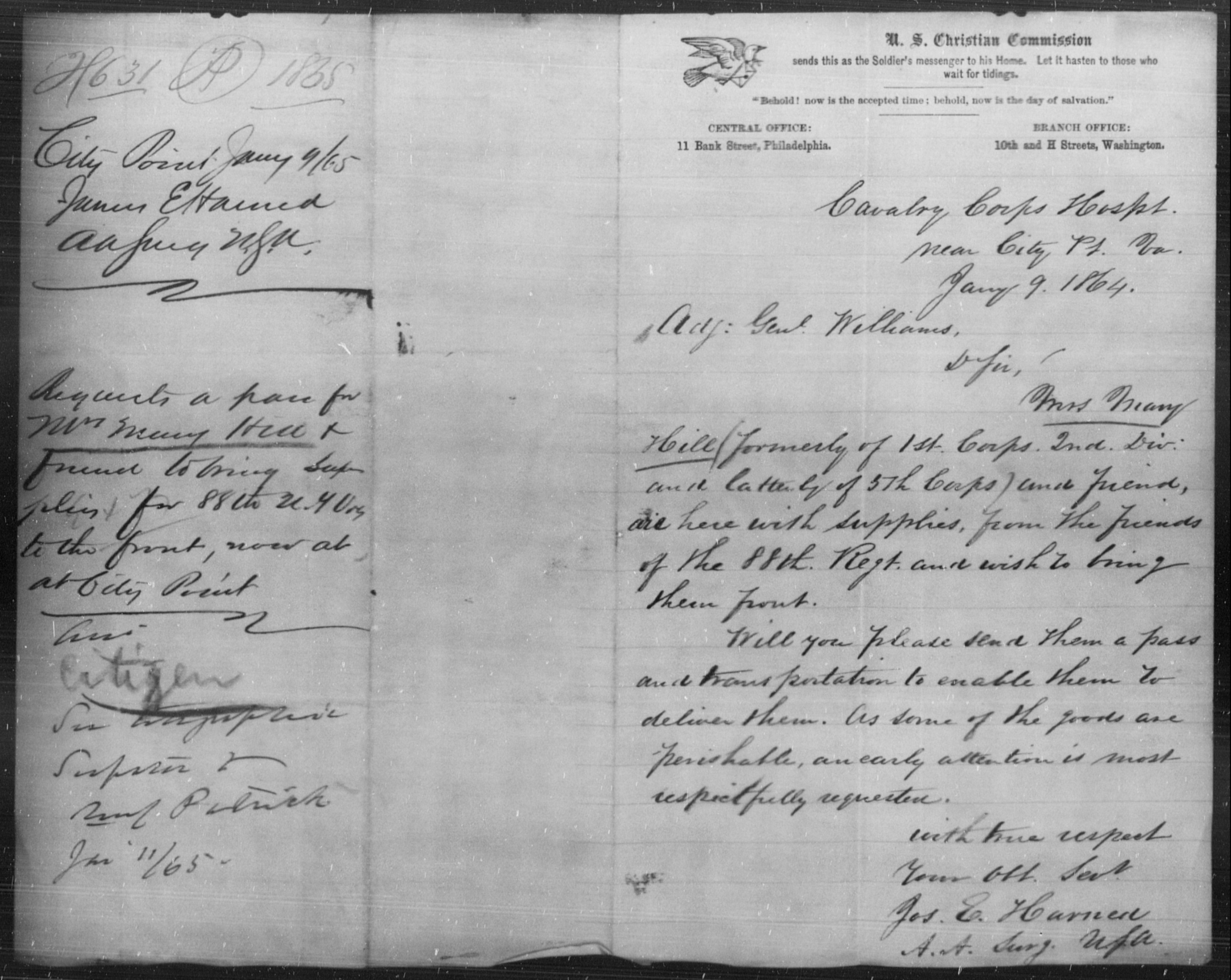 Hill, Mary - State: Virginia - Year: 1865