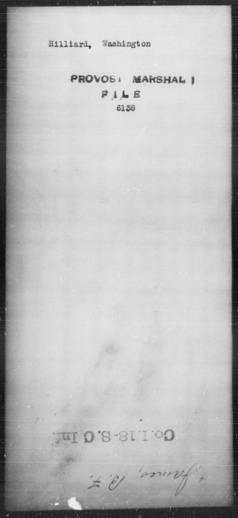 Hilliard, Washington - State: [Blank] - Year: [Blank]
