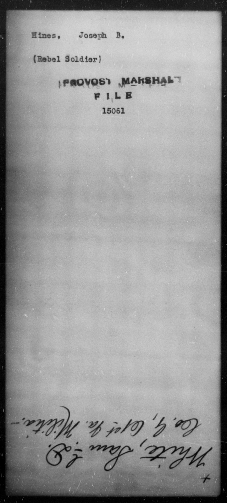 Hines, Joseph - State: [Blank] - Year: [Blank]