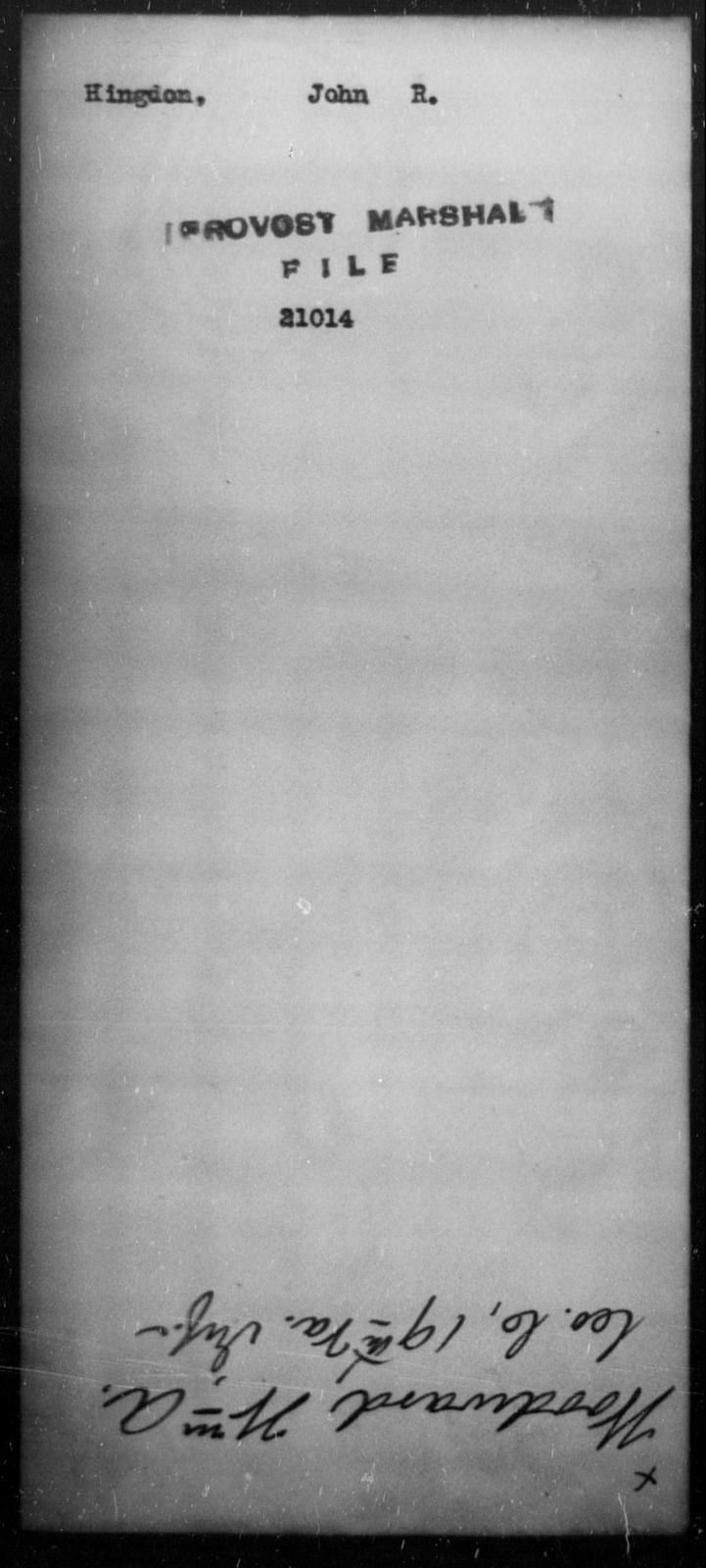 Hingdon, John R - State: [Blank] - Year: [Blank]