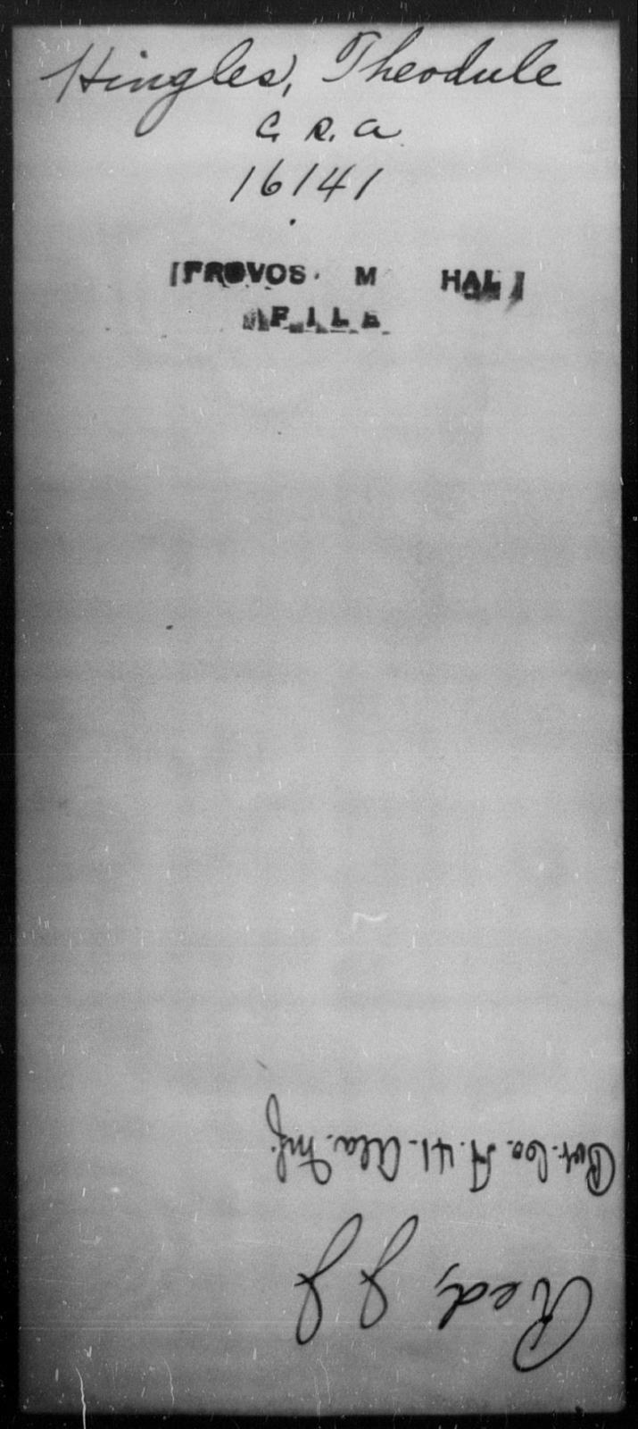 Hingles, Theodule - State: [Blank] - Year: [Blank]