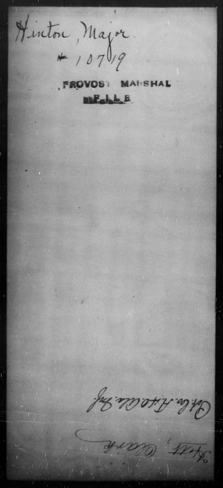 Hinton, Major - State: [Blank] - Year: [Blank]