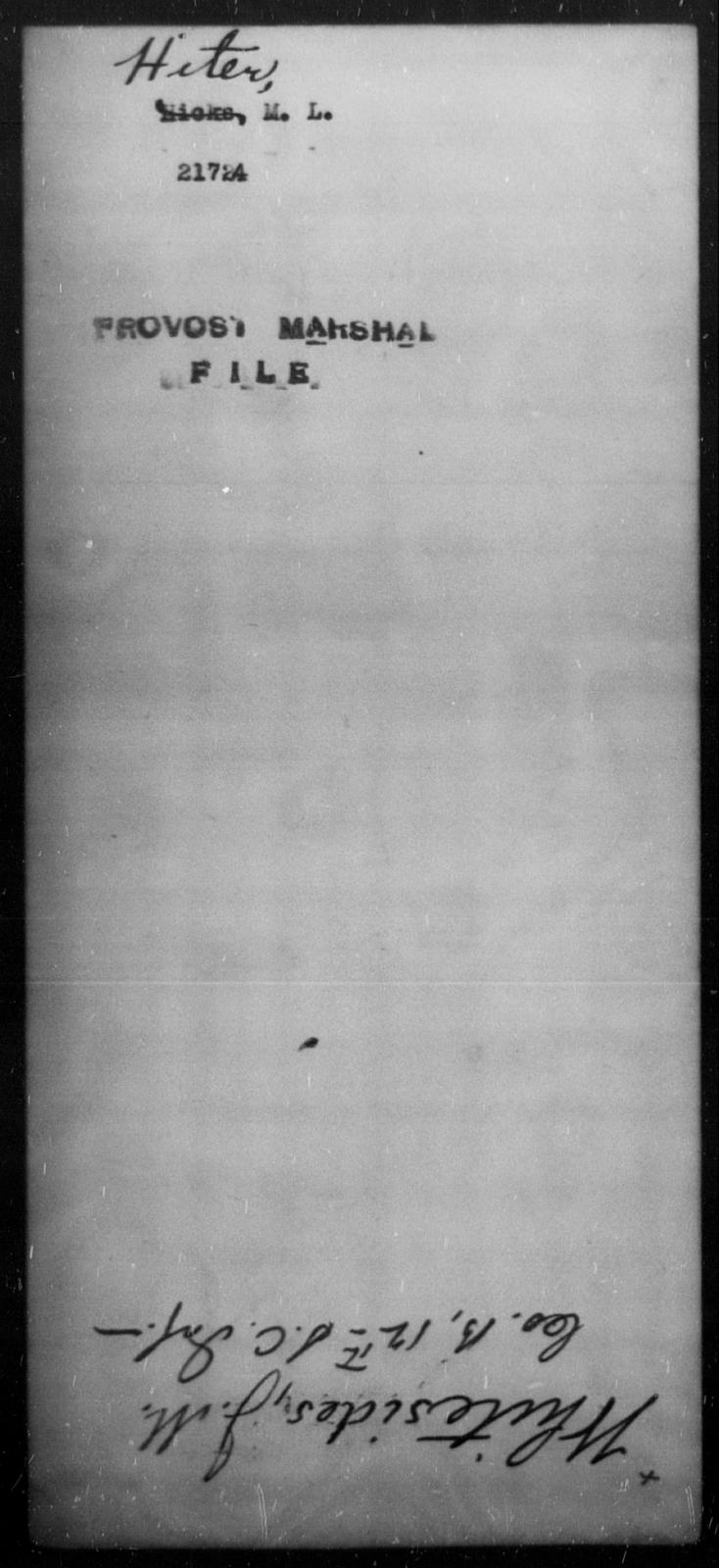 Hiter, M L - State: Missouri - Year: 1862
