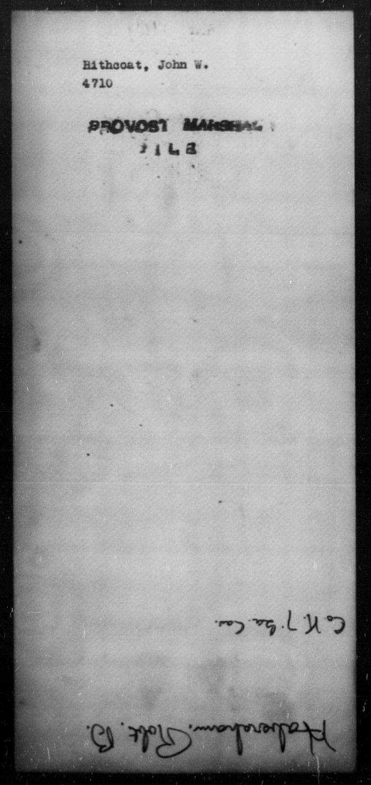 Hithcoat, John W - State: [Blank] - Year: [Blank]