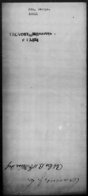 Hix, George - State: [Blank] - Year: [Blank]