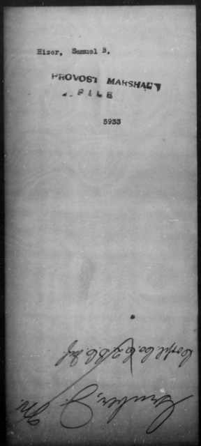 Hizer, Samuel B - State: [Blank] - Year: [Blank]