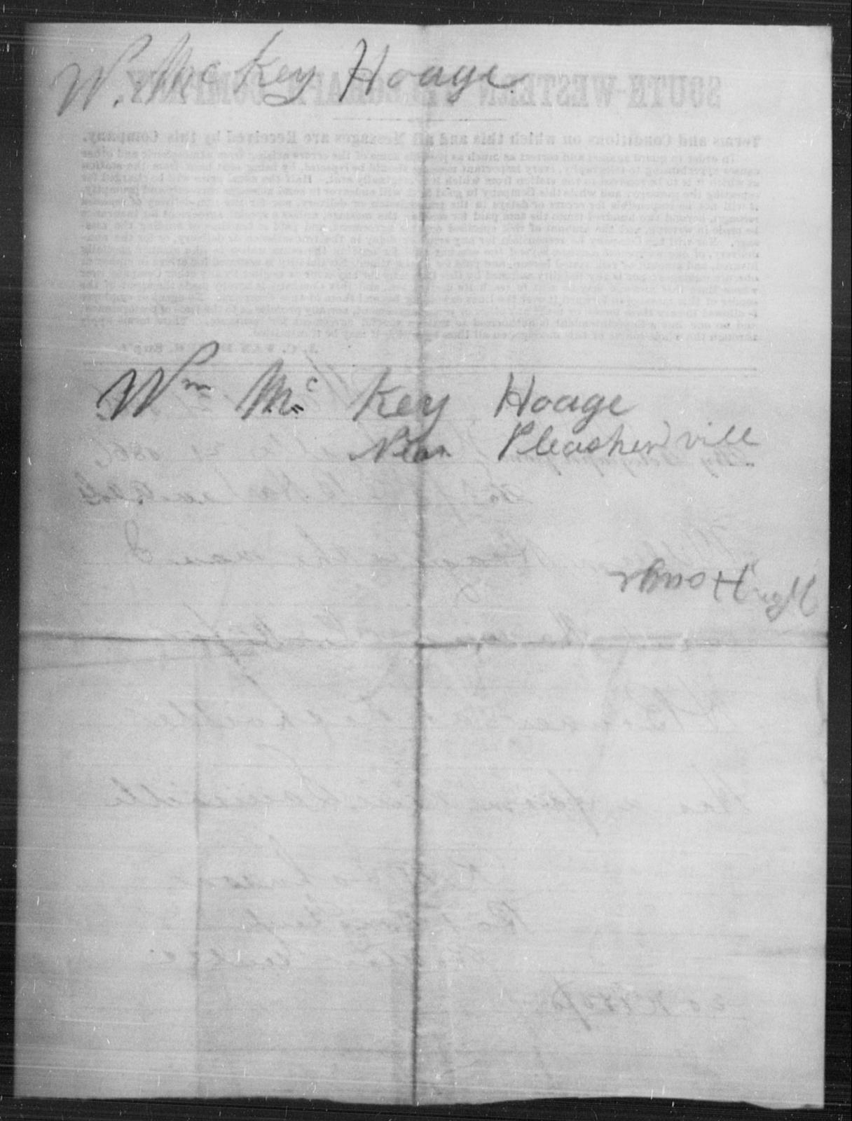 Hoage, Wm Mckey - State: [Blank] - Year: [Blank]