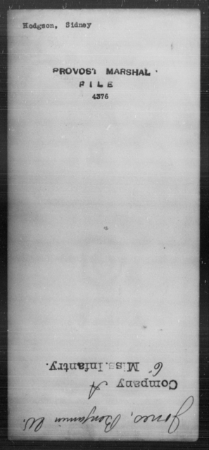Hodgson, Sidney - State: [Blank] - Year: [Blank]