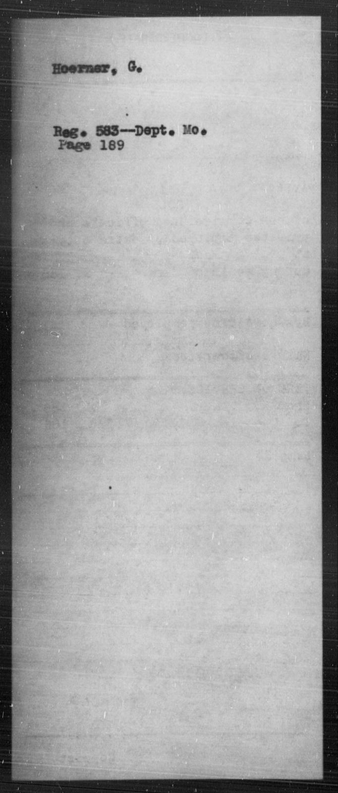 Hoerner, G - State: [Blank] - Year: [Blank]