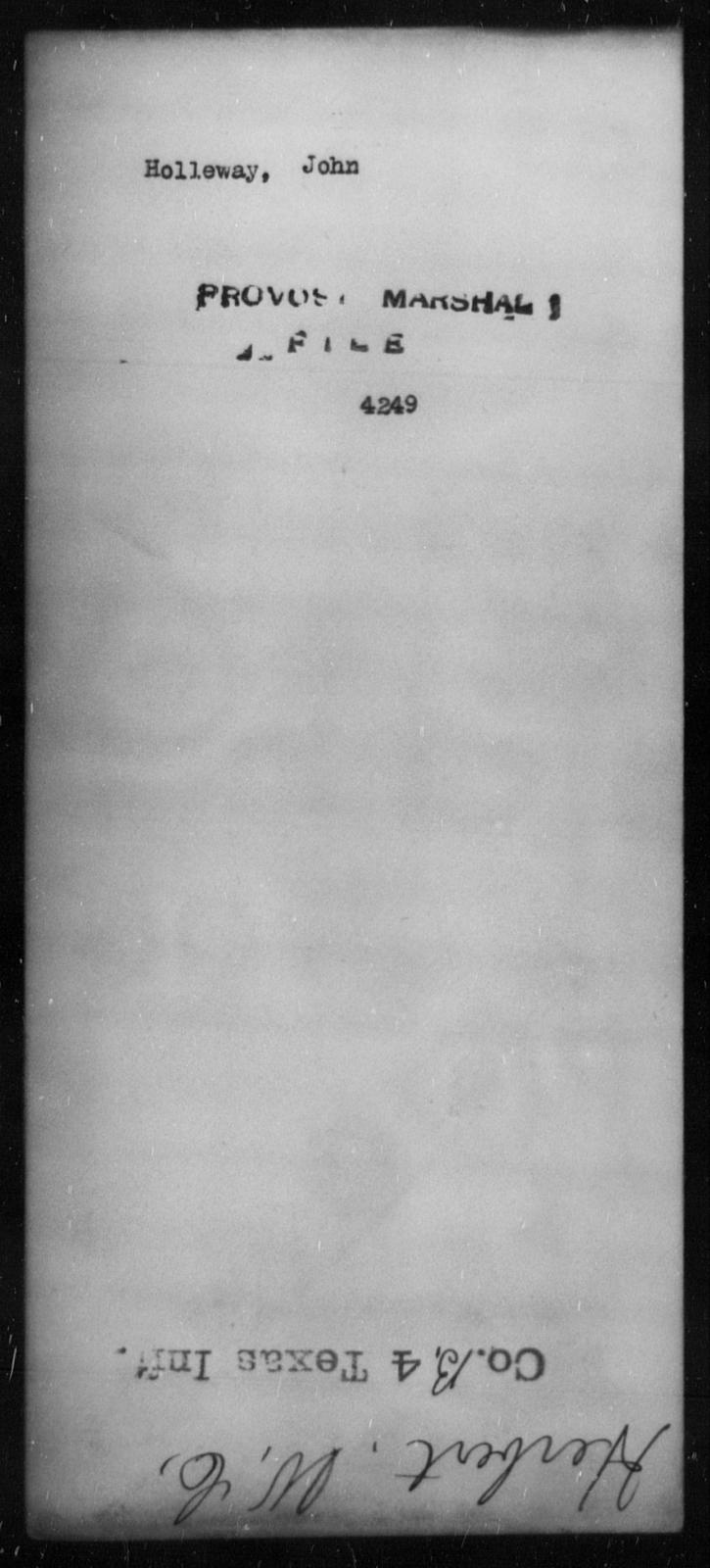 Holleway, John - State: [Blank] - Year: [Blank]