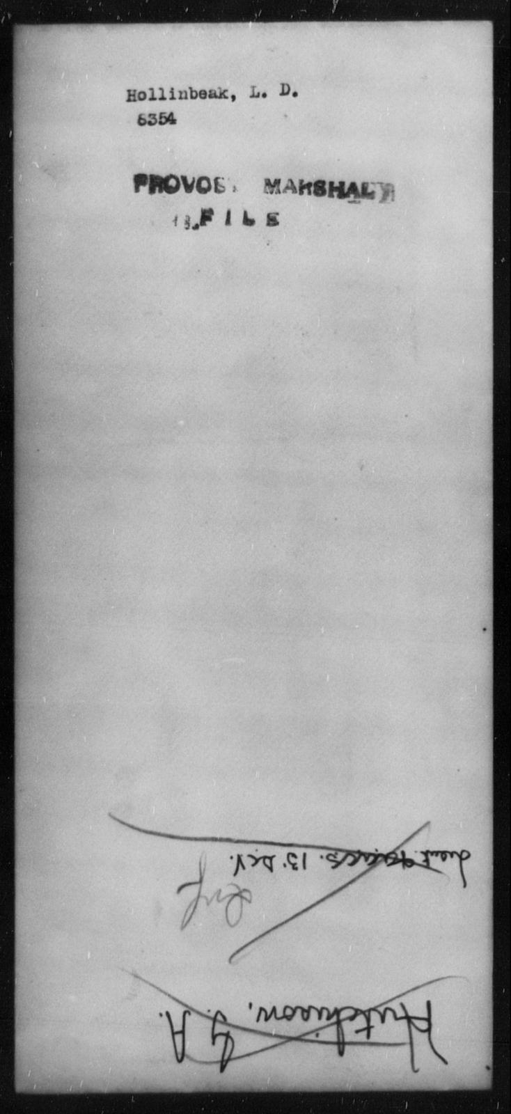 Hollinbeak, L D - State: [Blank] - Year: [Blank]