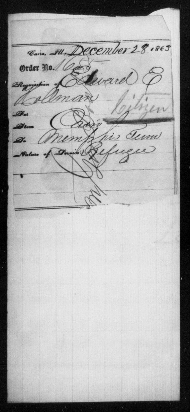 Hollman, Edward E - State: Illinois - Year: 1863