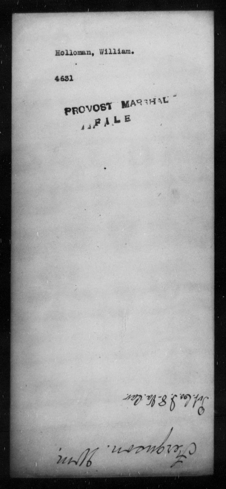 Holloman, William - State: [Blank] - Year: [Blank]