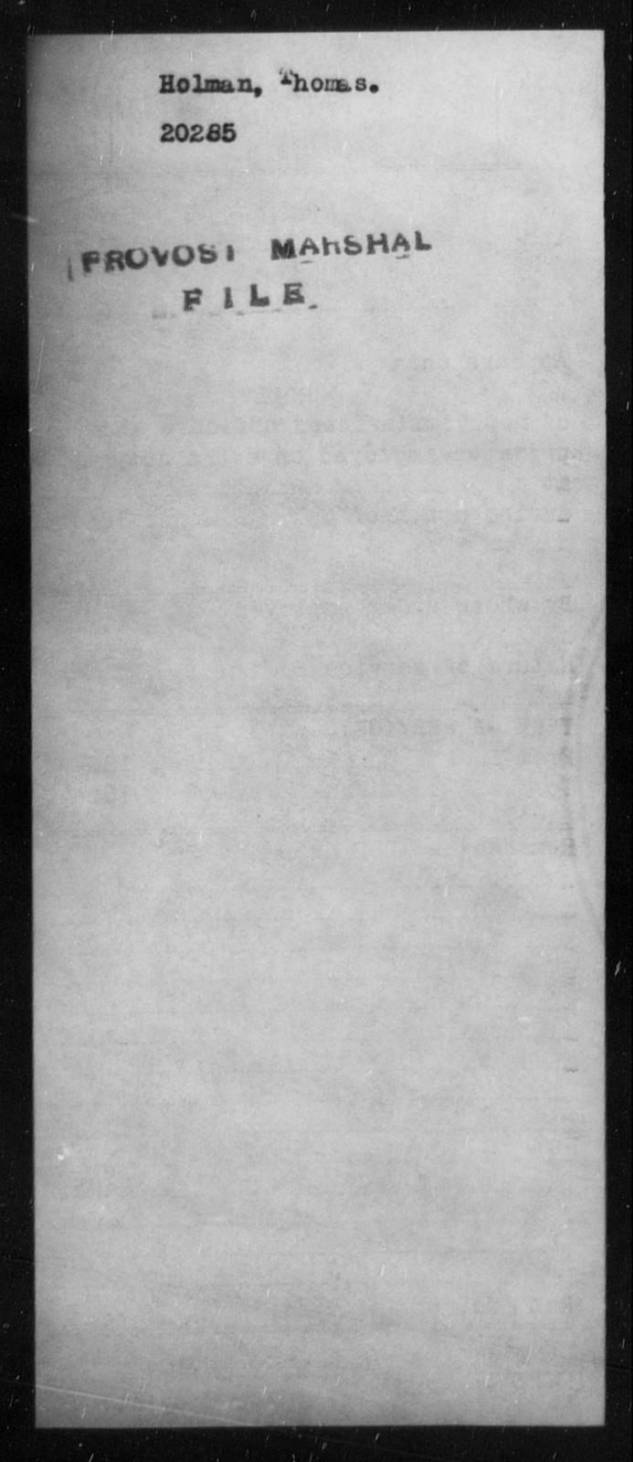 Holman, Thomas - State: [Blank] - Year: [Blank]