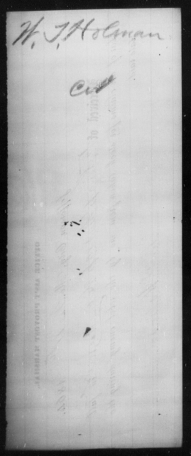 Holman, W T - State: [Blank] - Year: [Blank]