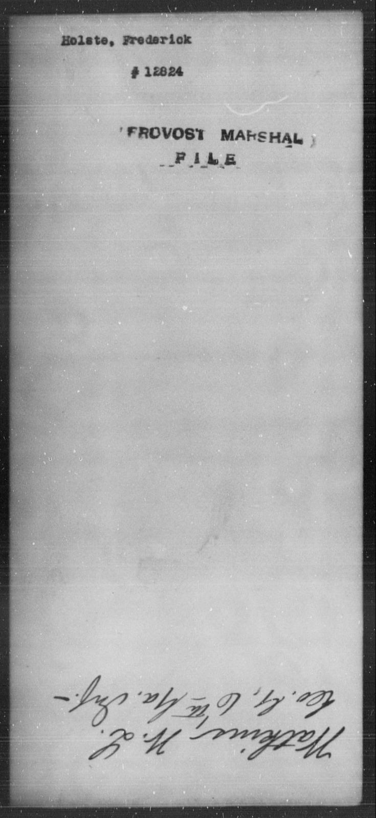 Holste, Frederick - State: [Blank] - Year: [Blank]