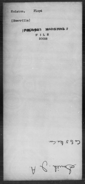 Holston, Floyd - State: [Blank] - Year: [Blank]