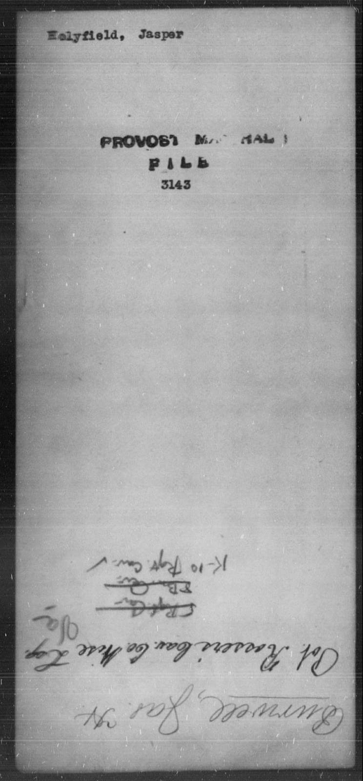 Holyfield, Jasper - State: [Blank] - Year: [Blank]