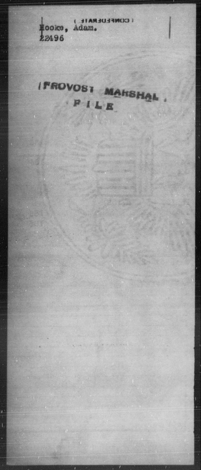 Hooke, Adam - State: [Blank] - Year: [Blank]