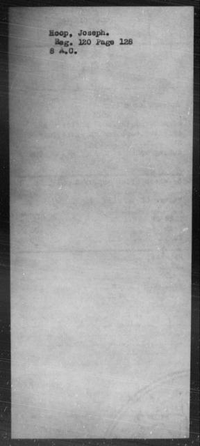 Hoop, Joseph - State: [Blank] - Year: [Blank]