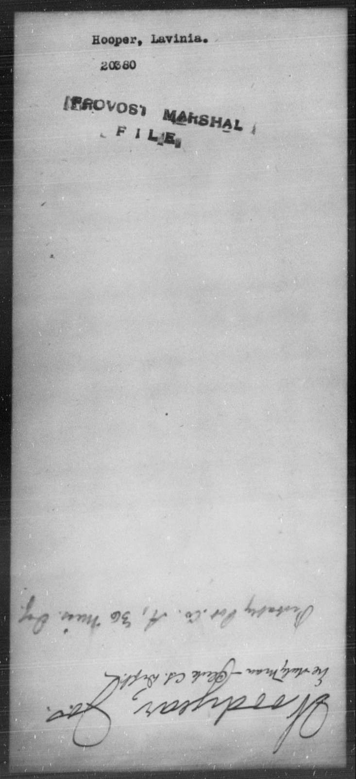 Hooper, Lavinia - State: [Blank] - Year: [Blank]