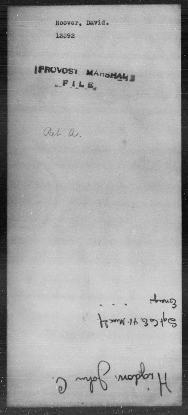 Hoover, David - State: [Blank] - Year: [Blank]