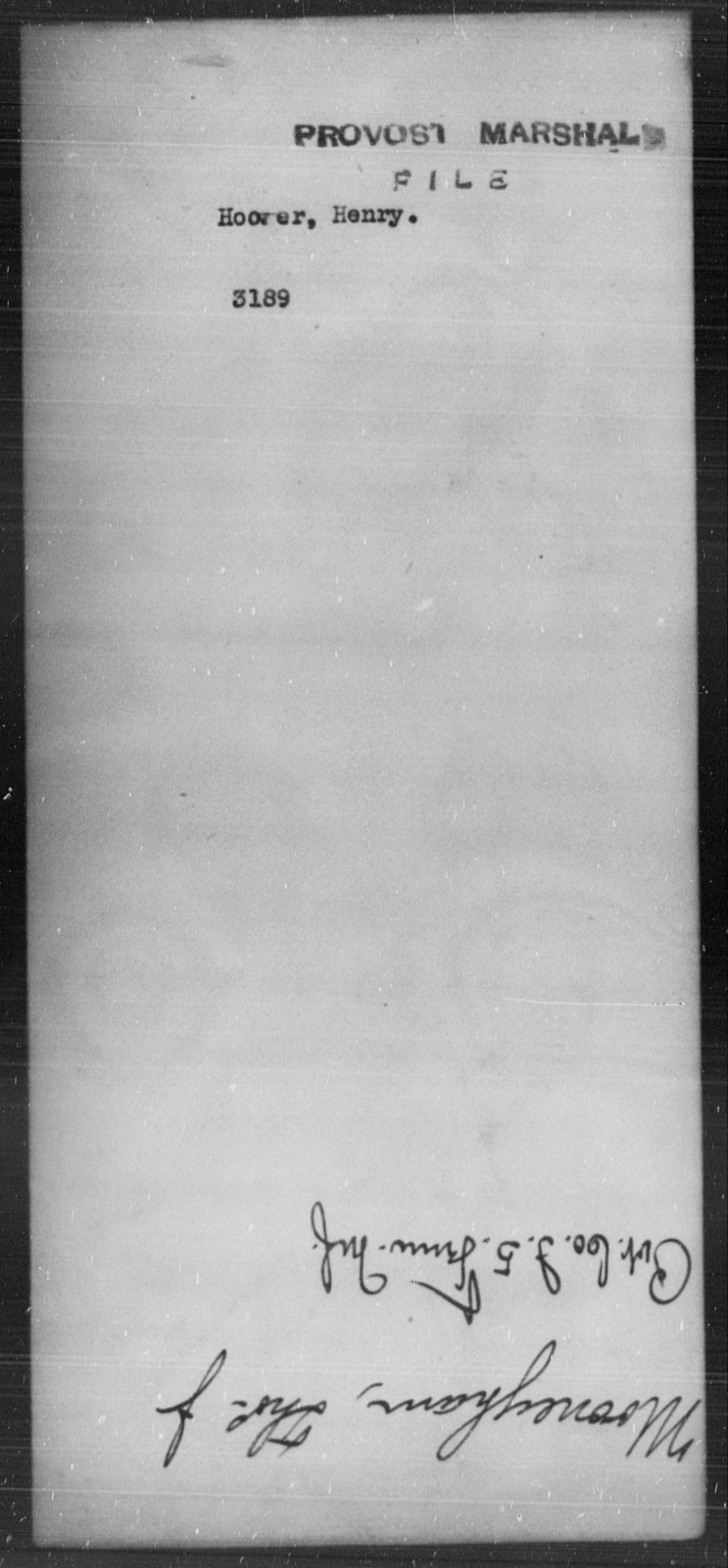 Hoover, Henry - State: [Blank] - Year: [Blank]