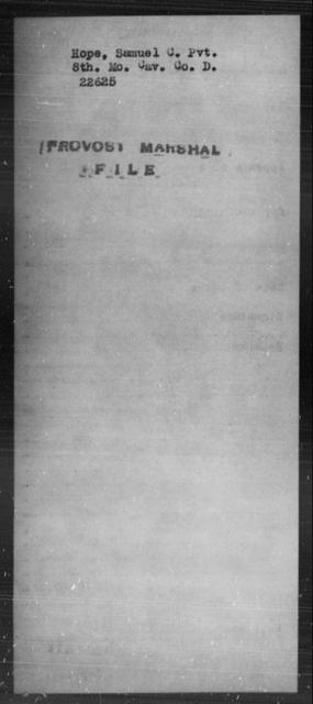 Hope, Samuel C - State: Missouri - Year: [Blank]