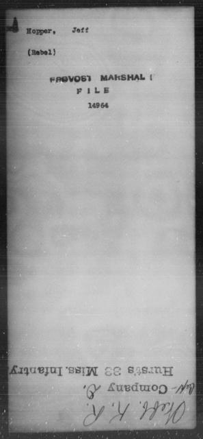 Hopper, Jeff - State: [Blank] - Year: [Blank]