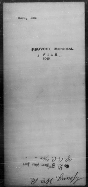 Horn, Paul - State: [Blank] - Year: [Blank]