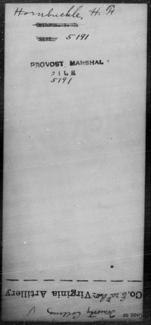 Hornbuckle, H F - State: [Blank] - Year: [Blank]
