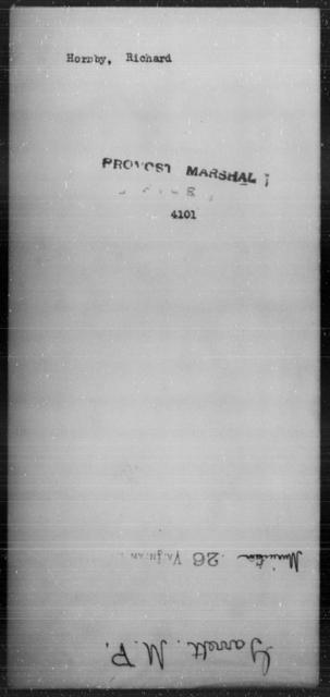 Hornby, Richard - State: [Blank] - Year: [Blank]