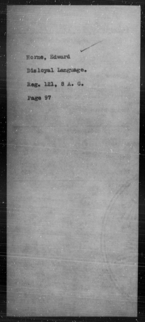 Horne, Edward - State: [Blank] - Year: [Blank]