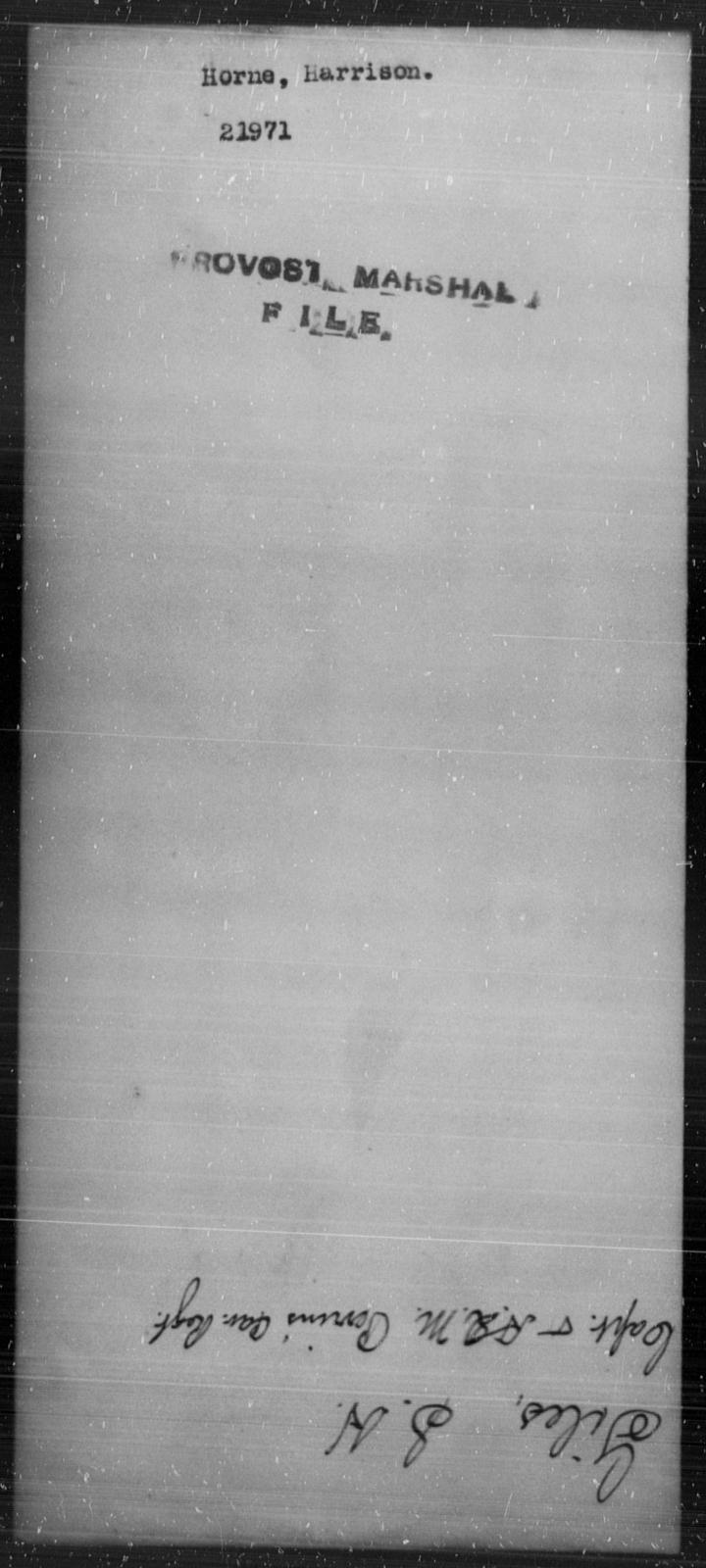 Horne, Harrison - State: [Blank] - Year: [Blank]