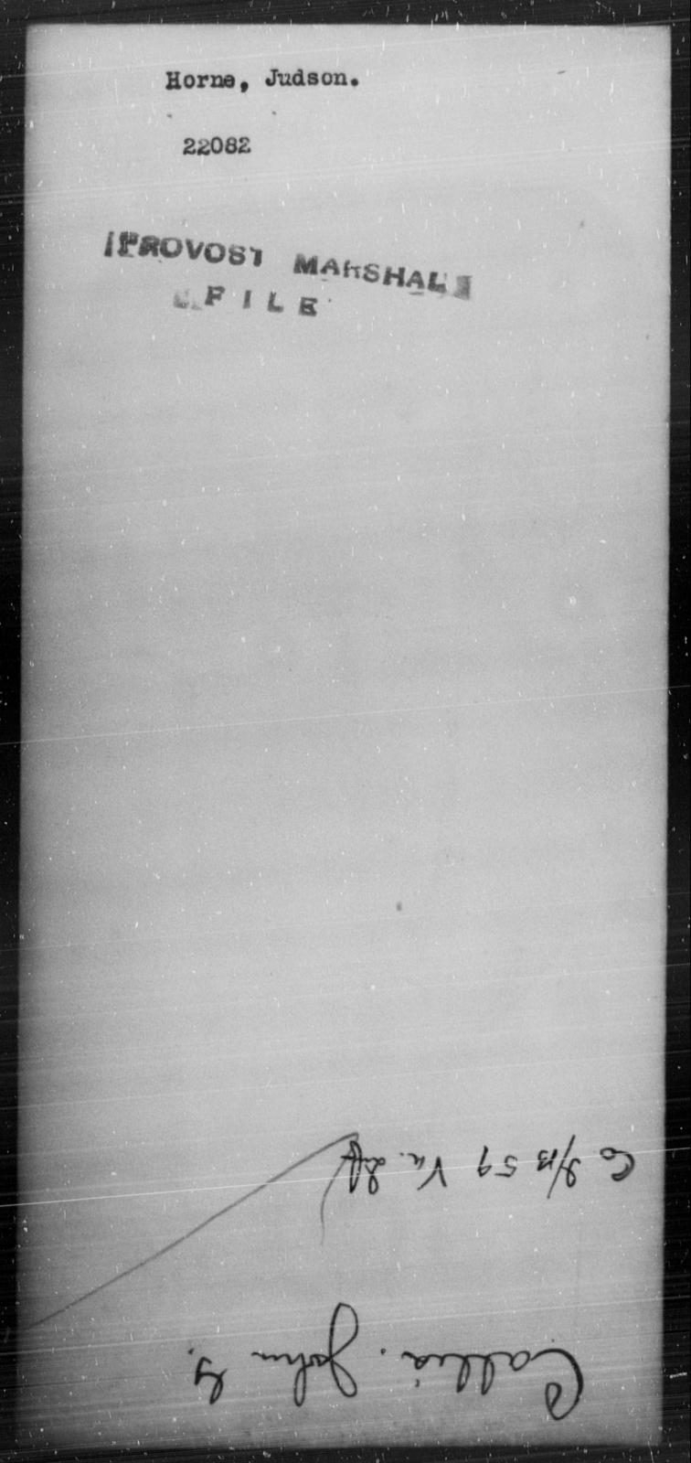 Horne, Judson - State: [Blank] - Year: [Blank]