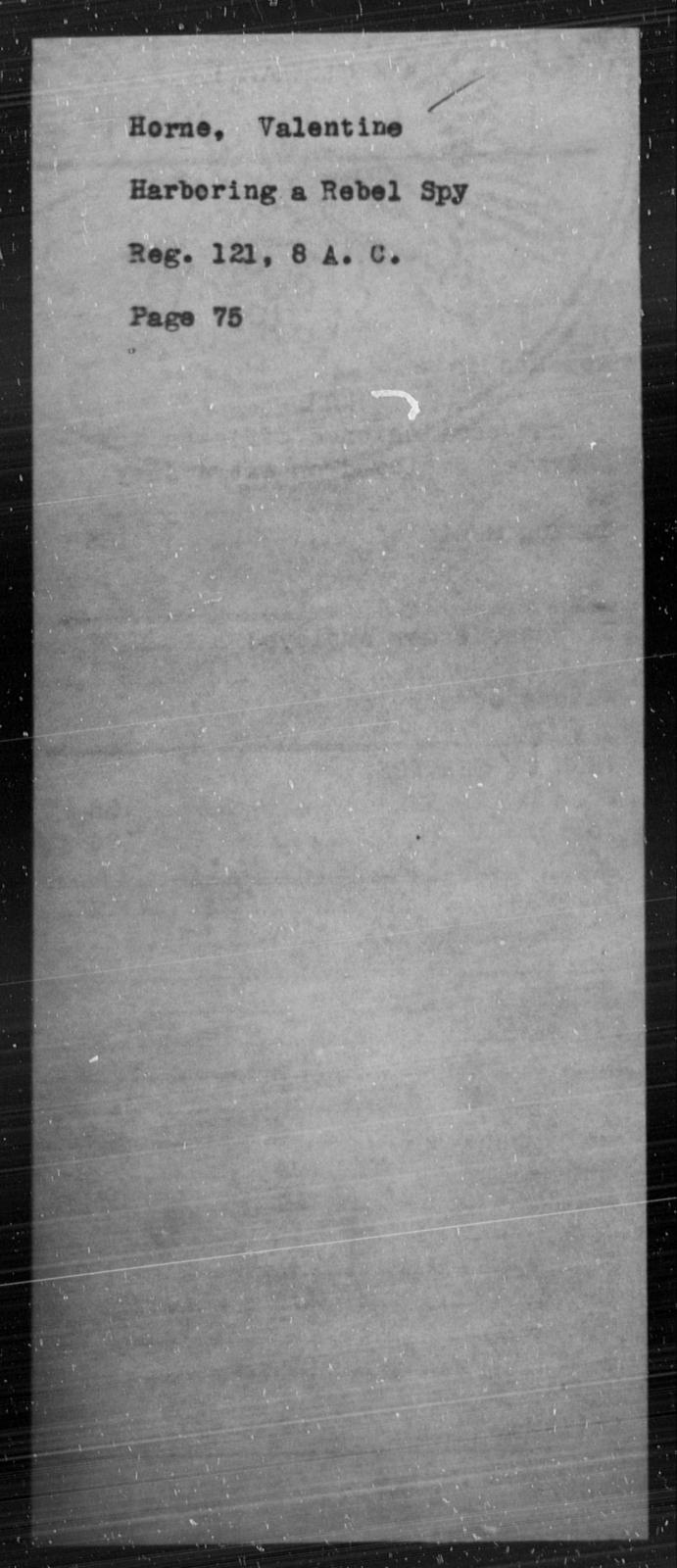 Horne, Valentine - State: [Blank] - Year: [Blank]