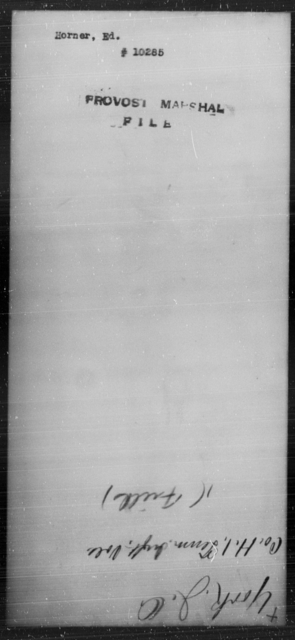 Horner, Ed - State: [Blank] - Year: [Blank]