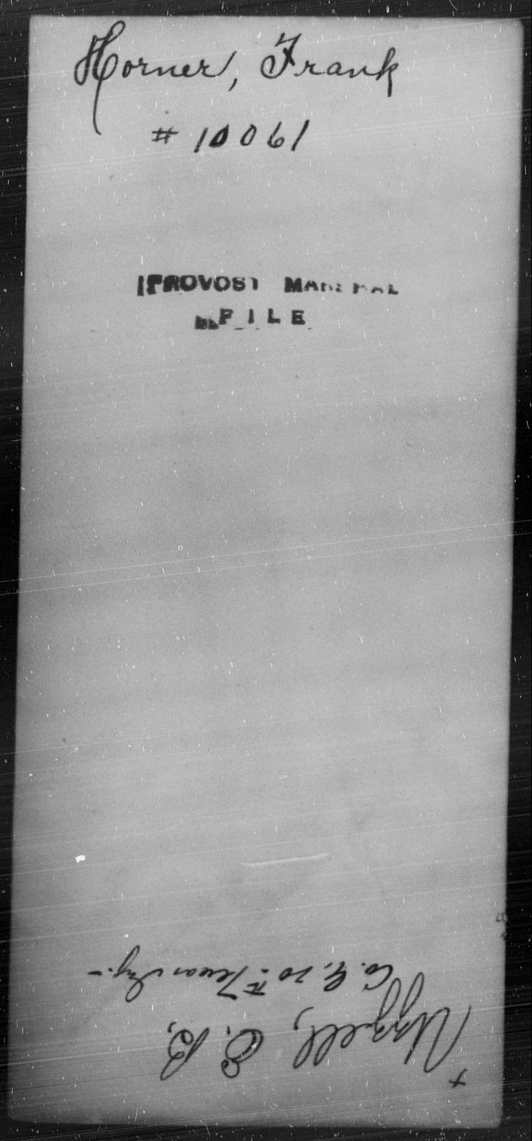 Horner, Frank - State: [Blank] - Year: [Blank]