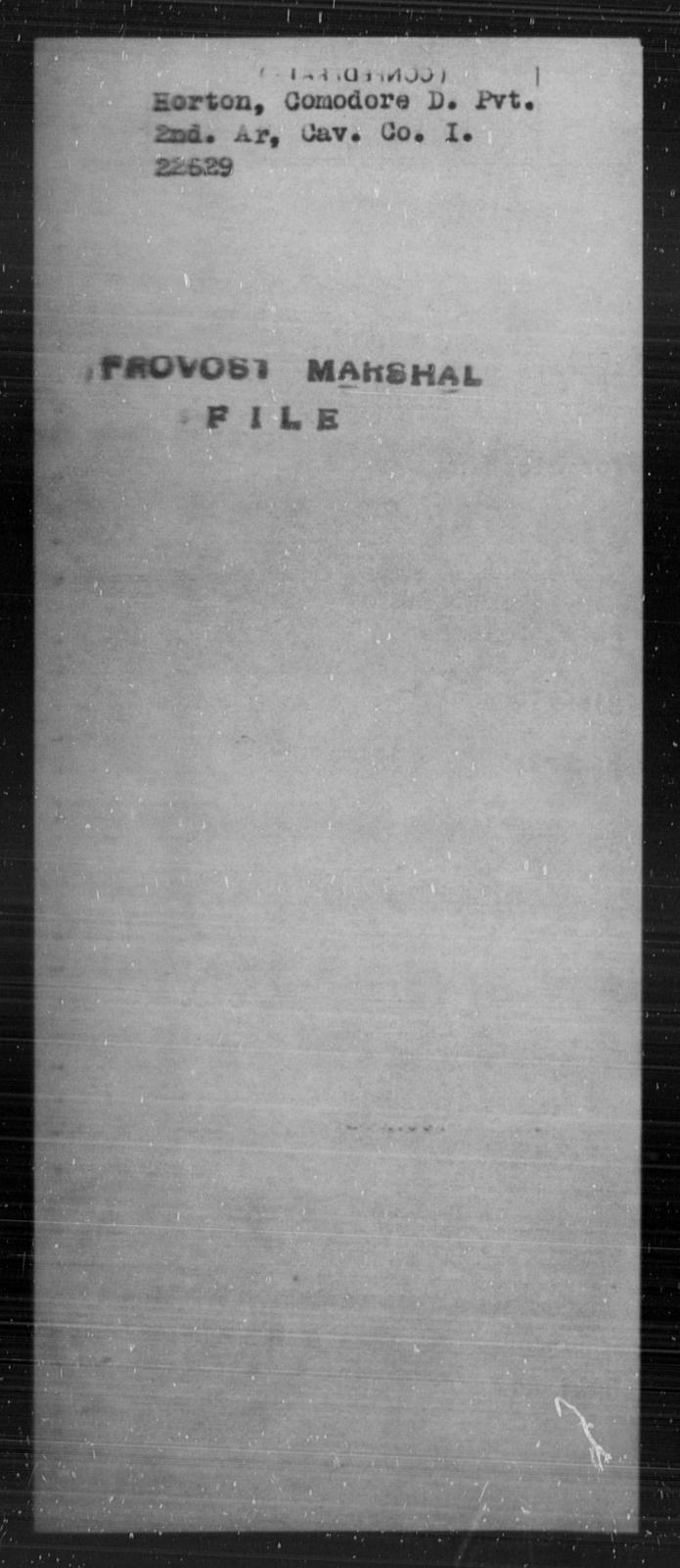 Horton, Comodore D - State: [Blank] - Year: [Blank]