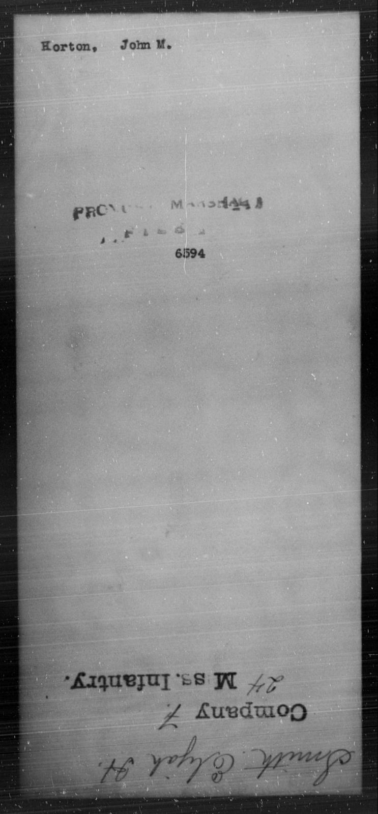 Horton, John M - State: [Blank] - Year: [Blank]