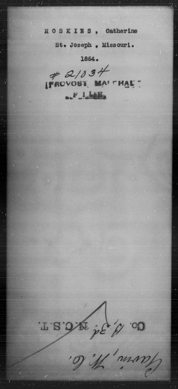 Hoskins, Catherine - State: Missouri - Year: [Blank]