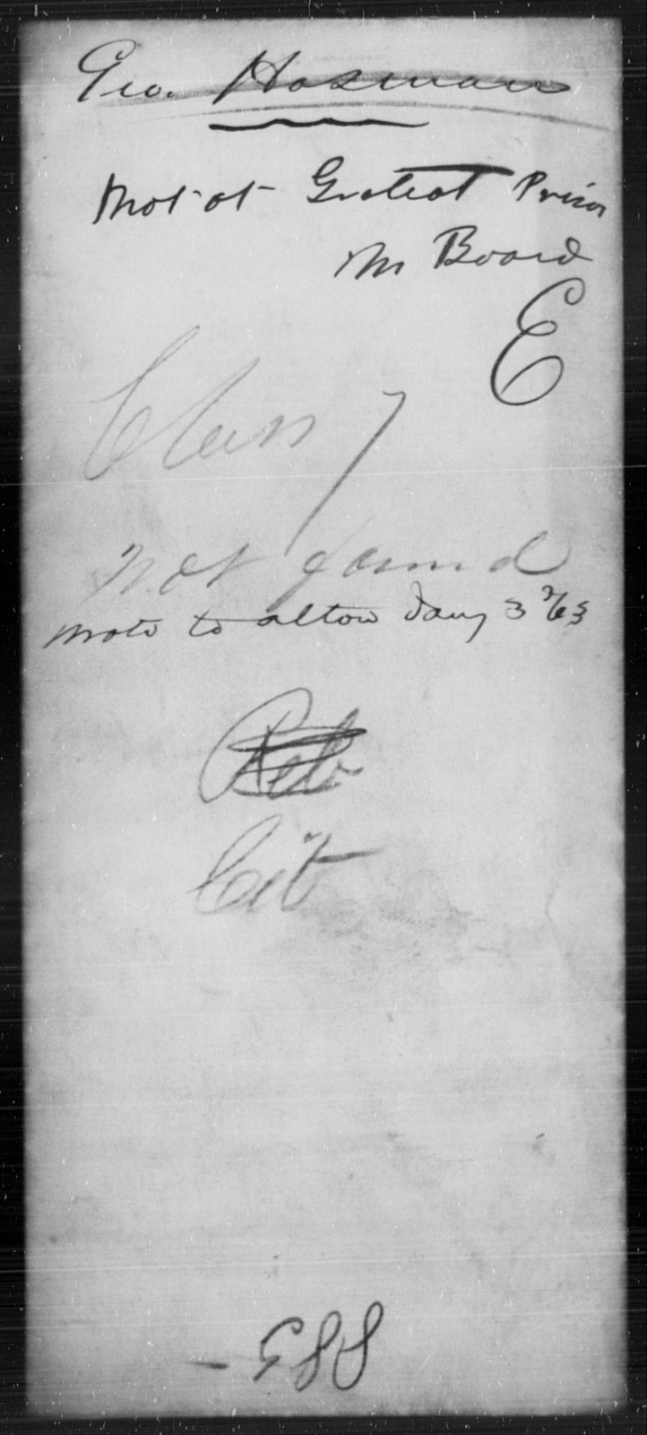 Hosman, Geo - State: [Blank] - Year: 1863
